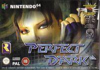 Portada oficial de Perfect Dark para Nintendo 64