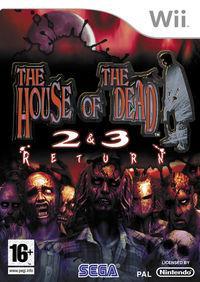 Portada oficial de House of the Dead 2 and 3 Return para Wii
