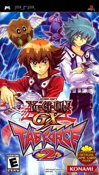 Portada oficial de Yu-Gi-Oh! GX Tag Force 2 para PSP