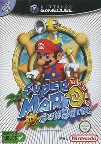 Portada oficial de Super Mario Sunshine para GameCube