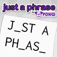 Portada oficial de Just a Phrase by POWGI para Switch