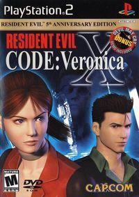 Portada oficial de Resident Evil Code: Veronica X para PS2