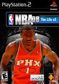 Portada oficial de NBA 08 para PS2