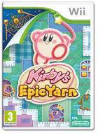 Portada oficial de de Kirby's Epic Yarn para Wii