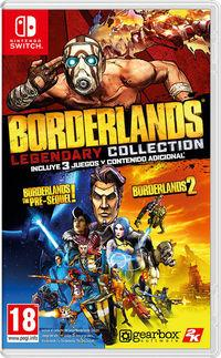 Portada oficial de Borderlands Legendary Collection para Switch