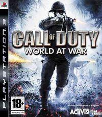 Portada oficial de Call of Duty: World at War para PS3