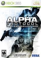 Portada oficial de de Alpha Protocol para Xbox 360