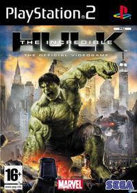 Portada oficial de The Incredible Hulk para PS2
