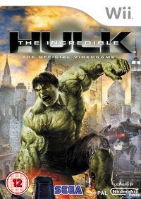 Portada oficial de The Incredible Hulk para Wii
