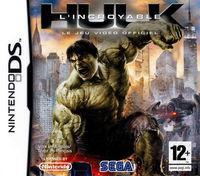 Portada oficial de The Incredible Hulk para NDS