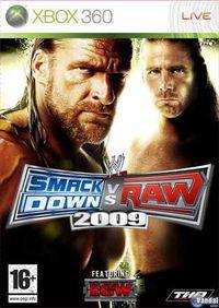 Portada oficial de WWE Smackdown! vs RAW 2009 para Xbox 360