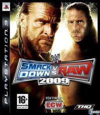 Portada oficial de WWE Smackdown! vs RAW 2009 para PS3