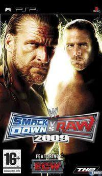 Portada oficial de WWE Smackdown! vs RAW 2009 para PSP