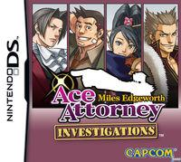 Portada oficial de Ace Attorney Investigations: Miles Edgeworth para NDS