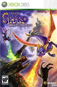 Portada oficial de Legend of Spyro: Dawn of the Dragon para Xbox 360