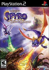 Portada oficial de Legend of Spyro: Dawn of the Dragon para PS2