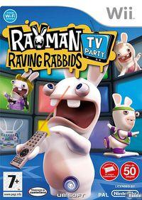 Portada oficial de Rayman Raving Rabbids TV Party para Wii