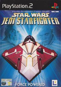 Portada oficial de Star Wars: Jedi Starfighter para PS2