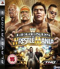 Portada oficial de Legends of Wrestlemania para PS3