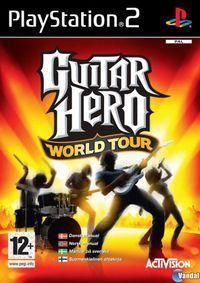 Portada oficial de Guitar Hero World Tour para PS2