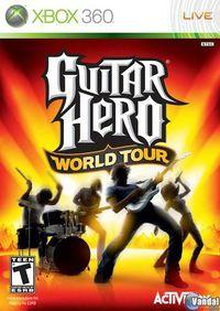 Portada oficial de Guitar Hero World Tour para Xbox 360