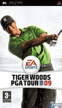 Portada oficial de Tiger Woods PGA TOUR 09 para PSP