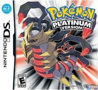 Portada oficial de Pokémon Platino para NDS