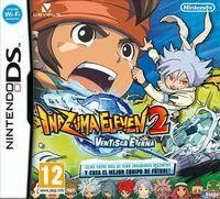 Portada oficial de Inazuma Eleven 2: Tormenta de Fuego y Ventisca Eterna para NDS