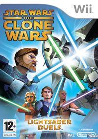 Portada oficial de Star Wars: The Clone Wars - Lightsaber Duels para Wii