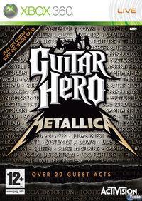 Portada oficial de Guitar Hero: Metallica para Xbox 360