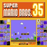 Portada oficial de Super Mario Bros. 35 para Switch