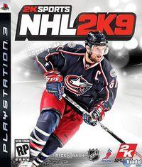 Portada oficial de NHL 2K9 para PS3