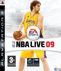 Portada oficial de NBA LIVE 09 para PS3