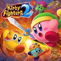 Portada oficial de Kirby Fighters 2 para Switch