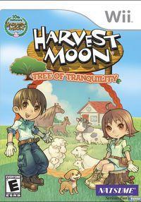 Portada oficial de Harvest Moon: El árbol de la tranquilidad para Wii