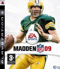 Portada oficial de Madden NFL 09 para PS3