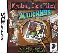 Portada oficial de Mystery Case Files: MillionHeir para NDS