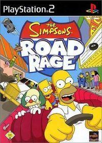 Portada oficial de The Simpsons Road Rage para PS2