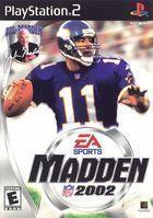 Portada oficial de de Madden NFL2002 para PS2