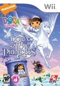 Portada oficial de Dora saves the Snow Princess para Wii