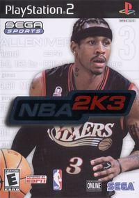 Portada oficial de NBA 2K3 para PS2