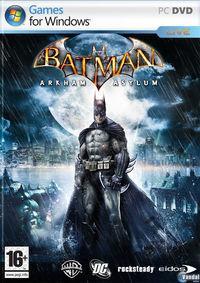 Portada oficial de Batman: Arkham Asylum para PC