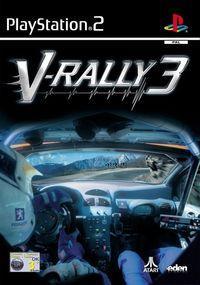 Portada oficial de V-Rally 3 para PS2