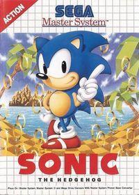 Portada oficial de Sonic the Hedgehog Master System CV para Wii