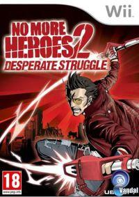 Portada oficial de No More Heroes 2: Desperate Struggle para Wii