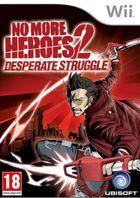 Portada oficial de de No More Heroes 2: Desperate Struggle para Wii