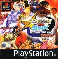 Portada oficial de Capcom vs SNK Pro para PS One