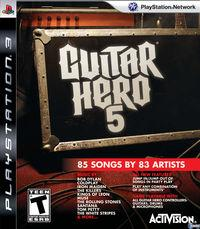 Portada oficial de Guitar Hero 5 para PS3
