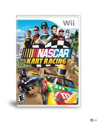 Portada oficial de NASCAR Kart Racing para Wii