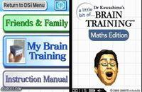 Portada oficial de A Little Bit of... Dr. Kawashima's Brain Training: Maths Edition DSiW para NDS